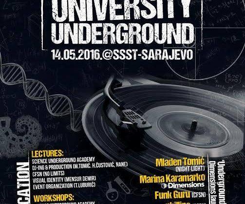 Mixmag Adria presents University Underground – 14. maja 2016.   SSST- Sarajevo