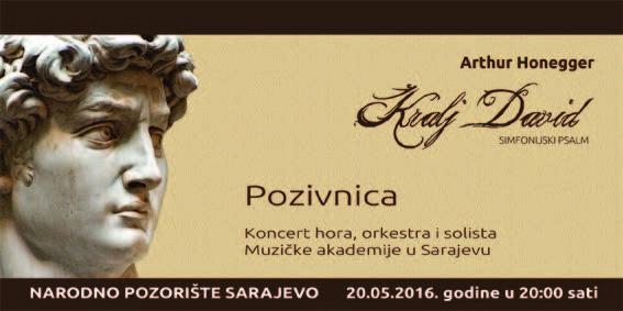 Po prvi puta u BiH Simfonijski psalm Kralj David // Arthur Honegger //
