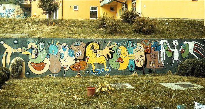 Mural Rikarda Druškića: Prazan zid kao platno, naselje kao galerija