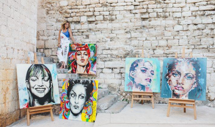 Hrvatska slikarka Branka Grubić u galeriji Kutcha u Sarajevu