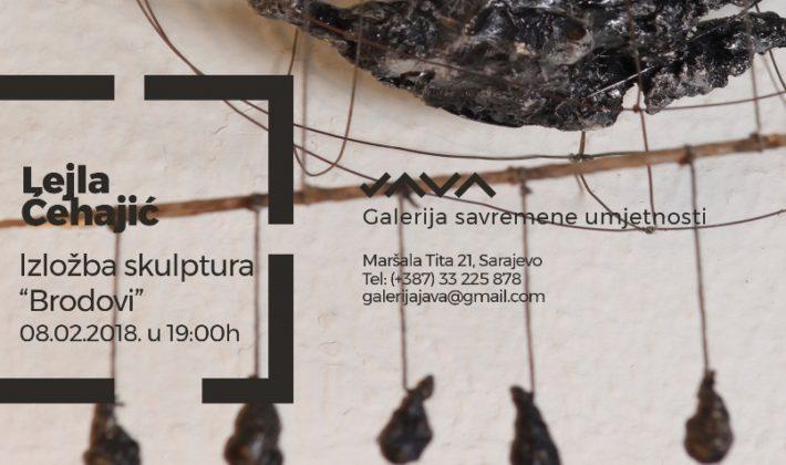 """Izložba skulptura """"Brodovi"""", autorice Lejle Ćehajić u JAVA galeriji"""