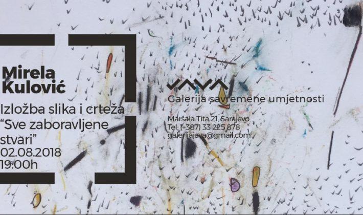 """Izložba """"Sve zaboravljene stvari"""", autorice Mirele Kulović u JAVA galeriji"""