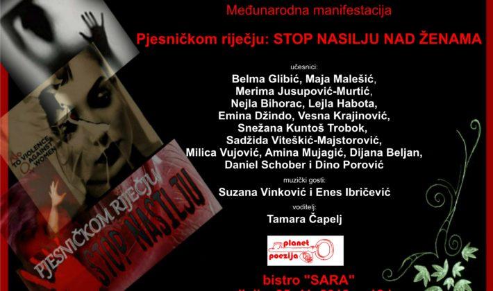 Pjesničkom riječju: Stop nasilju nad ženama