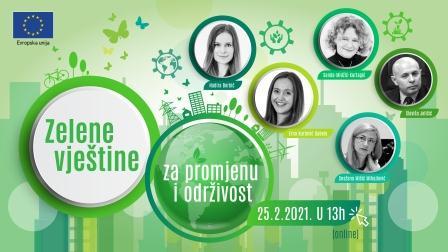 Webinar: Zelene vještine: za promjenu i održivost