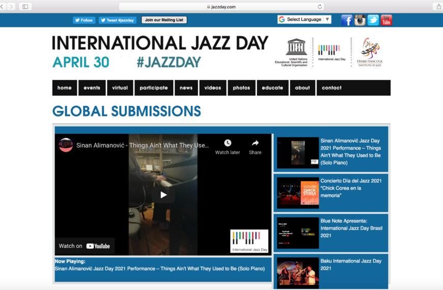 Sinan Alimanović na TOP poziciji globalnih predstavljanja 10. Internacionalnog dana jazz-a
