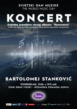 Povodom Svjetskog dana muzike koncert pijaniste Bartolomeja Stankovića