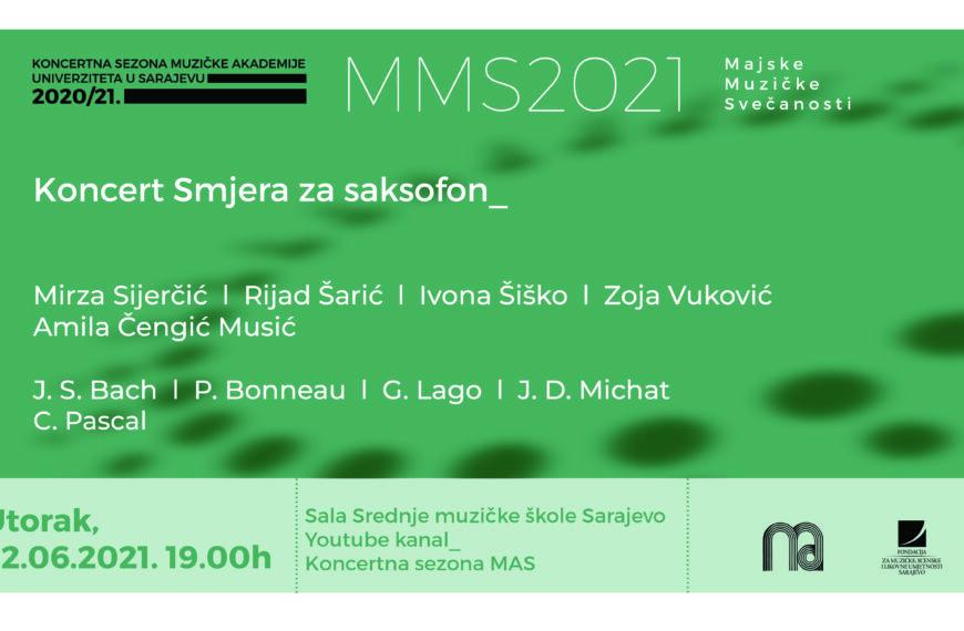 Koncert Smjera za saksofon Muzičke akademije UNSA