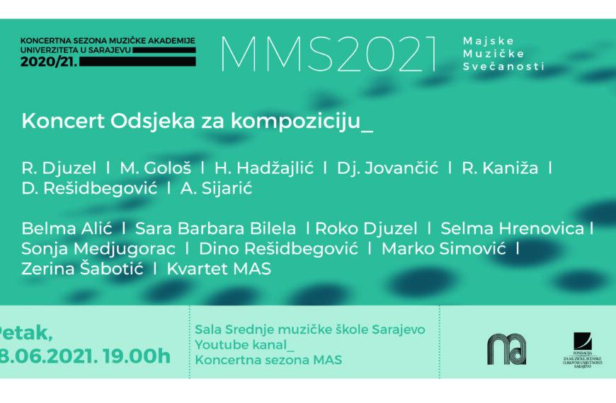Večeras koncert Odsjeka za kompoziciju Muzičke akademije UNSA